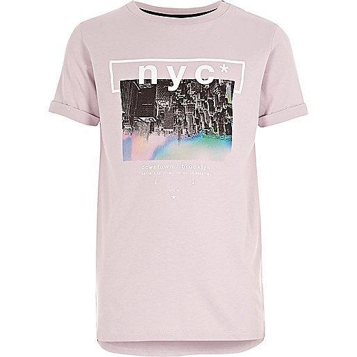 Boys pink NYC T-shirt