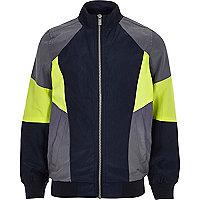 Graue Trainingsjacke in Blockfarben