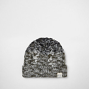 Mini boys khaki ombré knit beanie