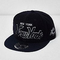 Boys navy New York signature cap