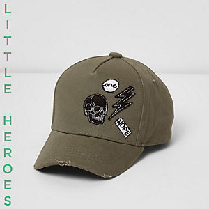 Mini boys khaki badge cap