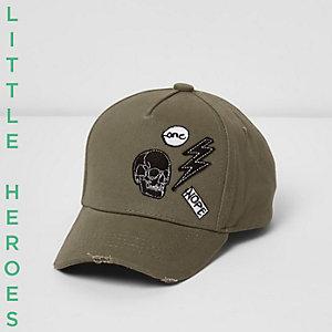 Mini boys khaki badge cap