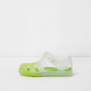 Mini boys yellow fade jelly sandals