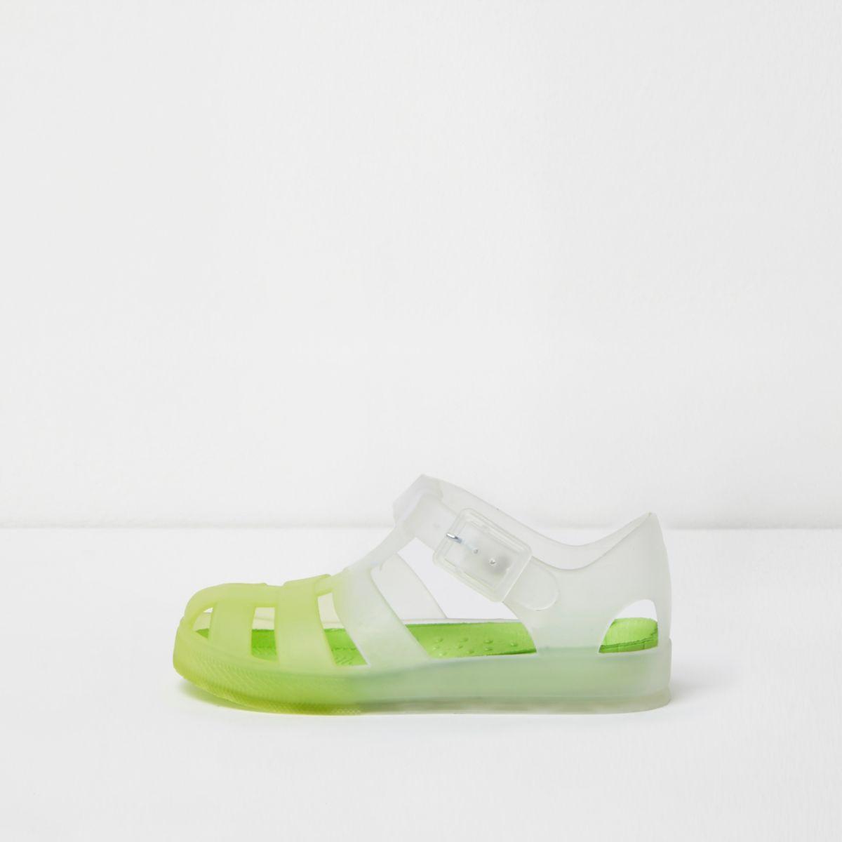 Mini boys yellow fade jelly sandals