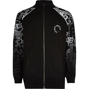 Schwarze Jacke mit Paisleymuster
