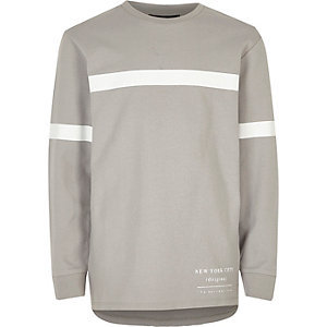 Boys grey stripe sweatshirt