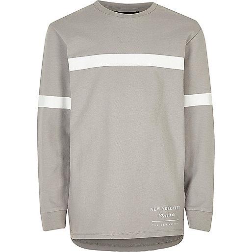 Boys grey stripe sweatshirt