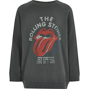 Sweat gris du groupe The Rolling Stones pour garçon