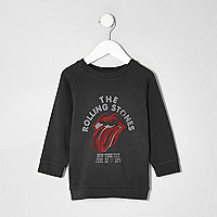 Mini boys grey The Rolling Stones sweatshirt