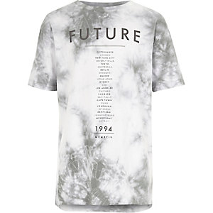 Weißes Batik-T-Shirt