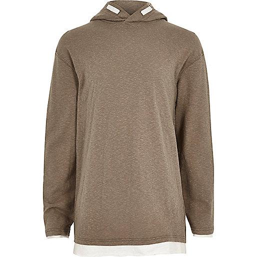 Boys brown lightweight hoodie
