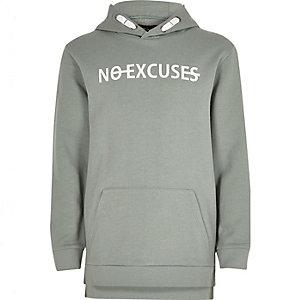 """Grüner Hoodie """"No Excuses"""""""