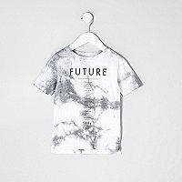Mini boys white tie dye 'future' band T-shirt