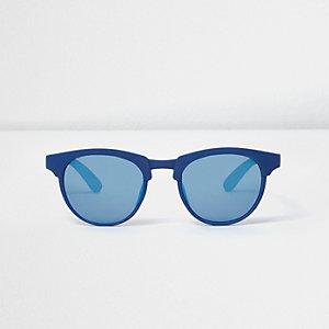 Mini boys blue matte retro sunglasses