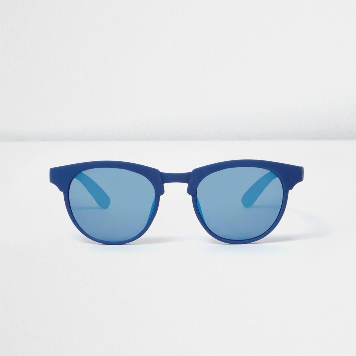 Mini boys blue matte retro sunglasses