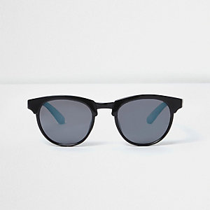 Boys black matte retro sunglasses