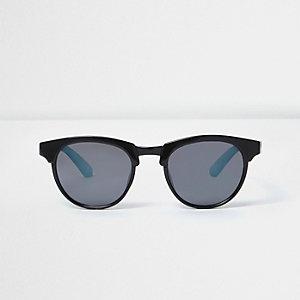 Mini - Zwarte matte retro zonnebril voor jongens