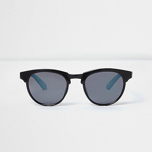 Mini boys black matte retro sunglasses