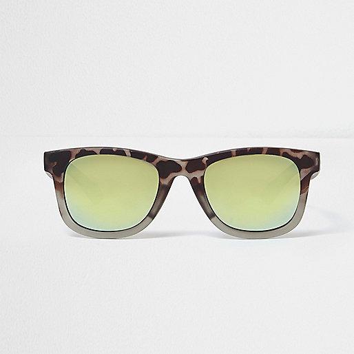 Mini boys camo retro blue lens sunglasses