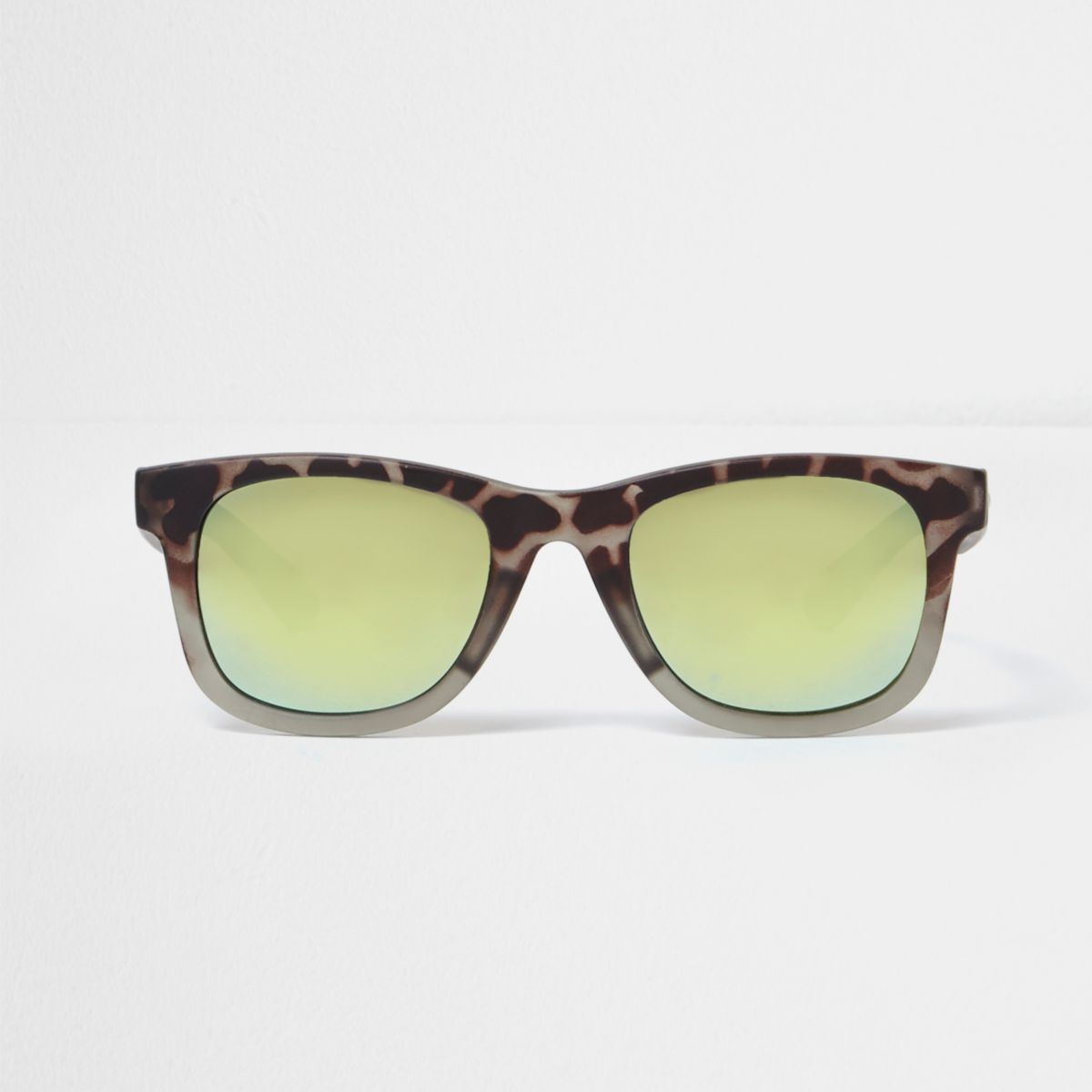 Mini boys camo retro blue lens sunglasses