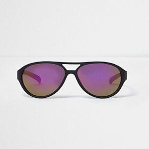 Pilotensonnenbrille in Schwarz und Lila