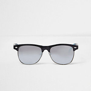 Boys black ombre arm retro sunglasses