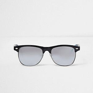 Boys black ombre arm retro sunglasses