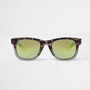 Boys khaki green camo retro sunglasses