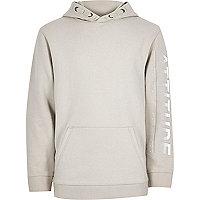Boys stone 'attitude' hoodie