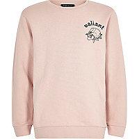 Pinkes Sweatshirt mit Rückenprint