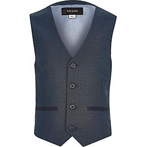 Boys navy blue suit waistcoat