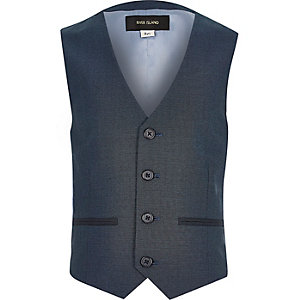 Boys petrol blue blue suit vest