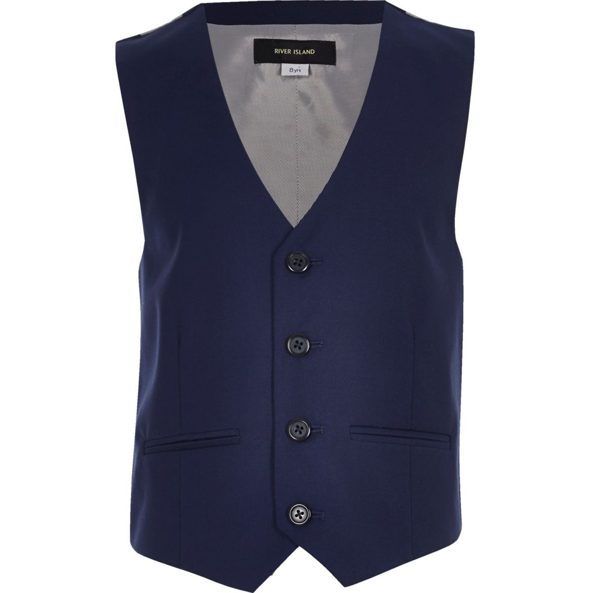 Boys bright blue suit vest