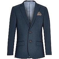 Boys petrol blue suit blazer jacket