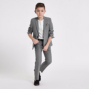 Boys grey suit blazer jacket