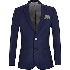 Boys bright blue suit jacket