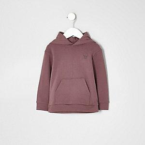 Mini boys pink skull print hoodie