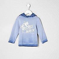 Sweat Mischief Maker bleu à capuche mini garçon
