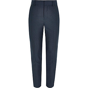 Boys navy blue suit trousers