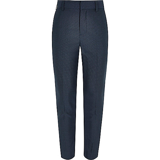 Boys petrol blue suit trousers