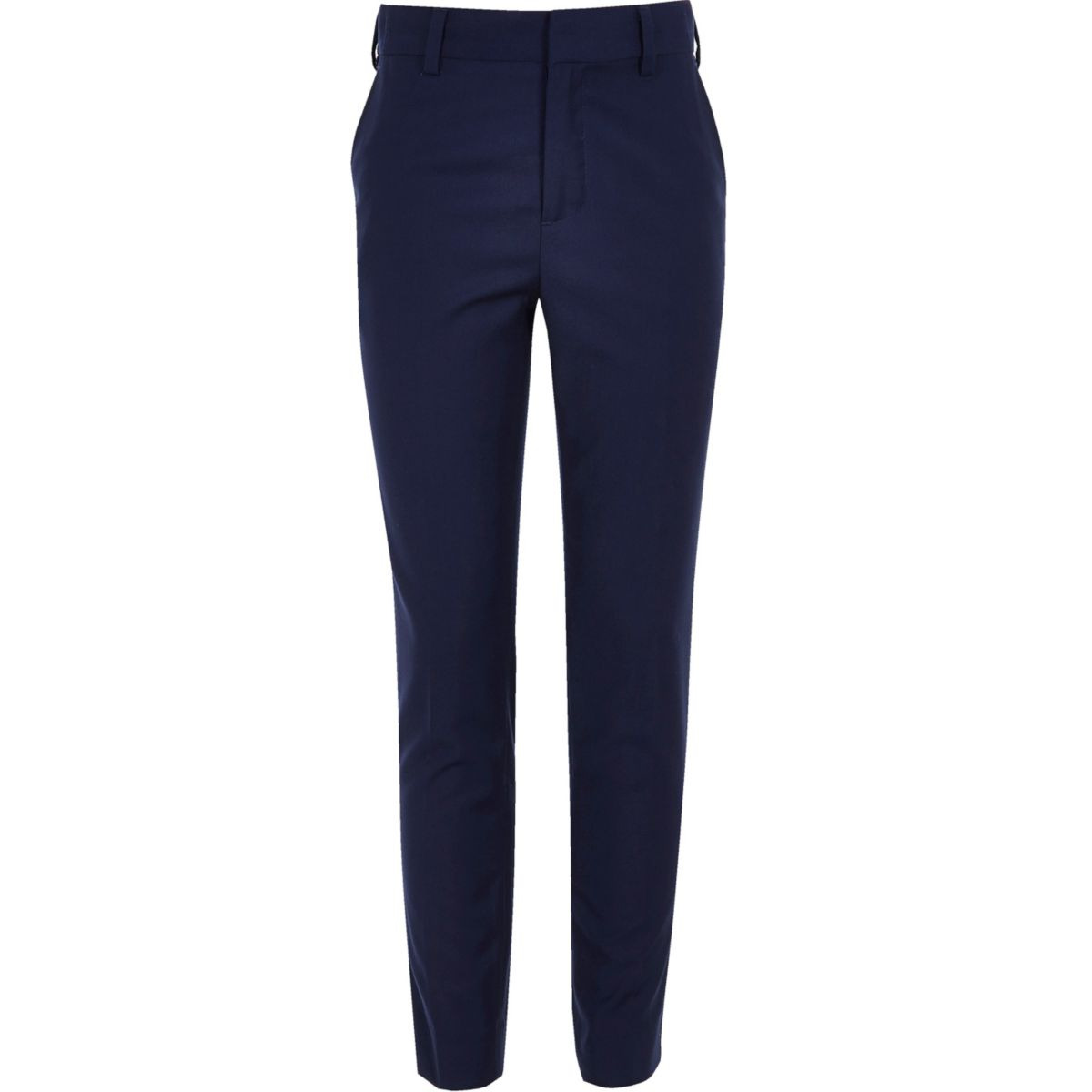 Boys bright blue suit trousers