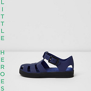 Mini boys blue jelly sandals