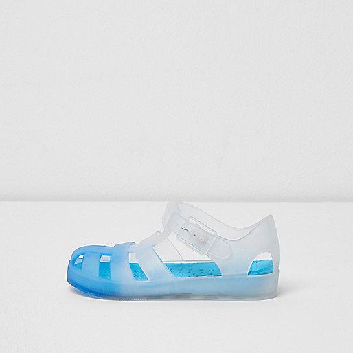 Mini boys blue fade jelly sandals