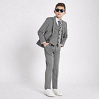 Boys grey suit trousers