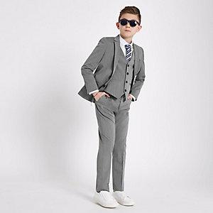Pantalon de costume gris pour garçon