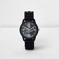 Boys black camo print sports watch