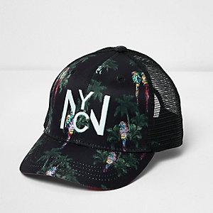 Boys black parrot mesh cap