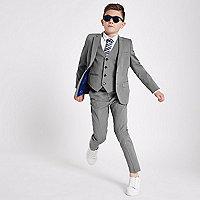 Boys grey suit jacket