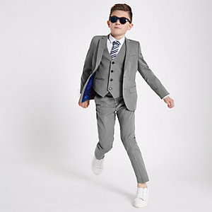 Boys grey suit jacket