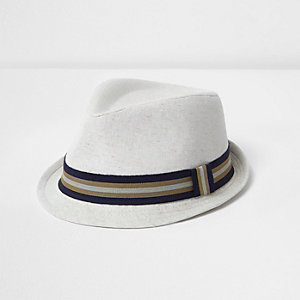 Mini boys stone ribbon trilby